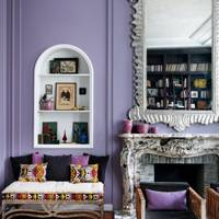 Purple Living Room Idea