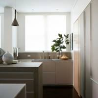 Kitchen Storage - Modern Park Avenue Apartment