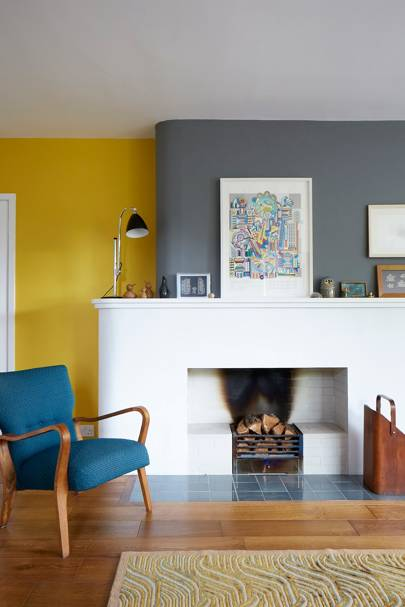 Drawing Room Fireplace - Modern Colourful Thirties House