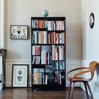 Simple Black Freestanding Bookshelf | Bookshelf Ideas