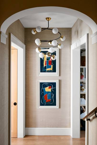 Neutral Walls and Bright Artwork