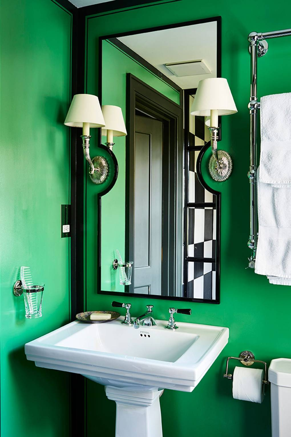 Green Paint Ideas | Wall Paint Colours | House & Garden on natural bathroom designs, red bathroom designs, grey bathroom designs, beige bathroom designs, yellow bathroom designs, hot pink bathroom designs, navy bathroom designs, electric blue bathroom designs, turquoise bathroom designs, fuschia bathroom designs, chocolate bathroom designs, purple bathroom designs, gold bathroom designs, rose pink bathroom designs, shared bathroom designs, espresso bathroom designs, green and brown bathroom designs, terracotta bathroom designs, mauve bathroom designs, white bathroom designs,