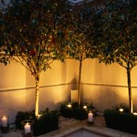 Light your garden with candles