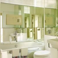 Small Mirrored Bathroom