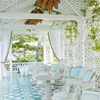 Cabana with vintage furniture