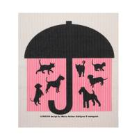 Raining Cats And Dogs Dishcloth