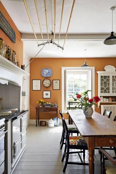 White Aga in Country Kitchen by Ben Pentreath
