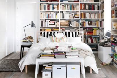 An Artfully Disheveled Bookcase