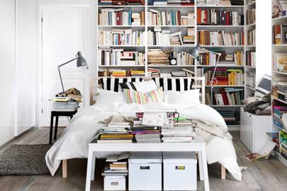 An Artfully Disheveled Bookcase