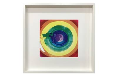 October 12: Erskine Rose Rainbow Print 30x30cm, £75