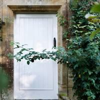 White Door Stone Surround