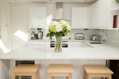 Small Modern White Ikea Kitchen