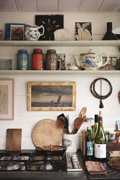 Kitchen Detail - At Home: Katie Fontana Houseboat | Real Homes