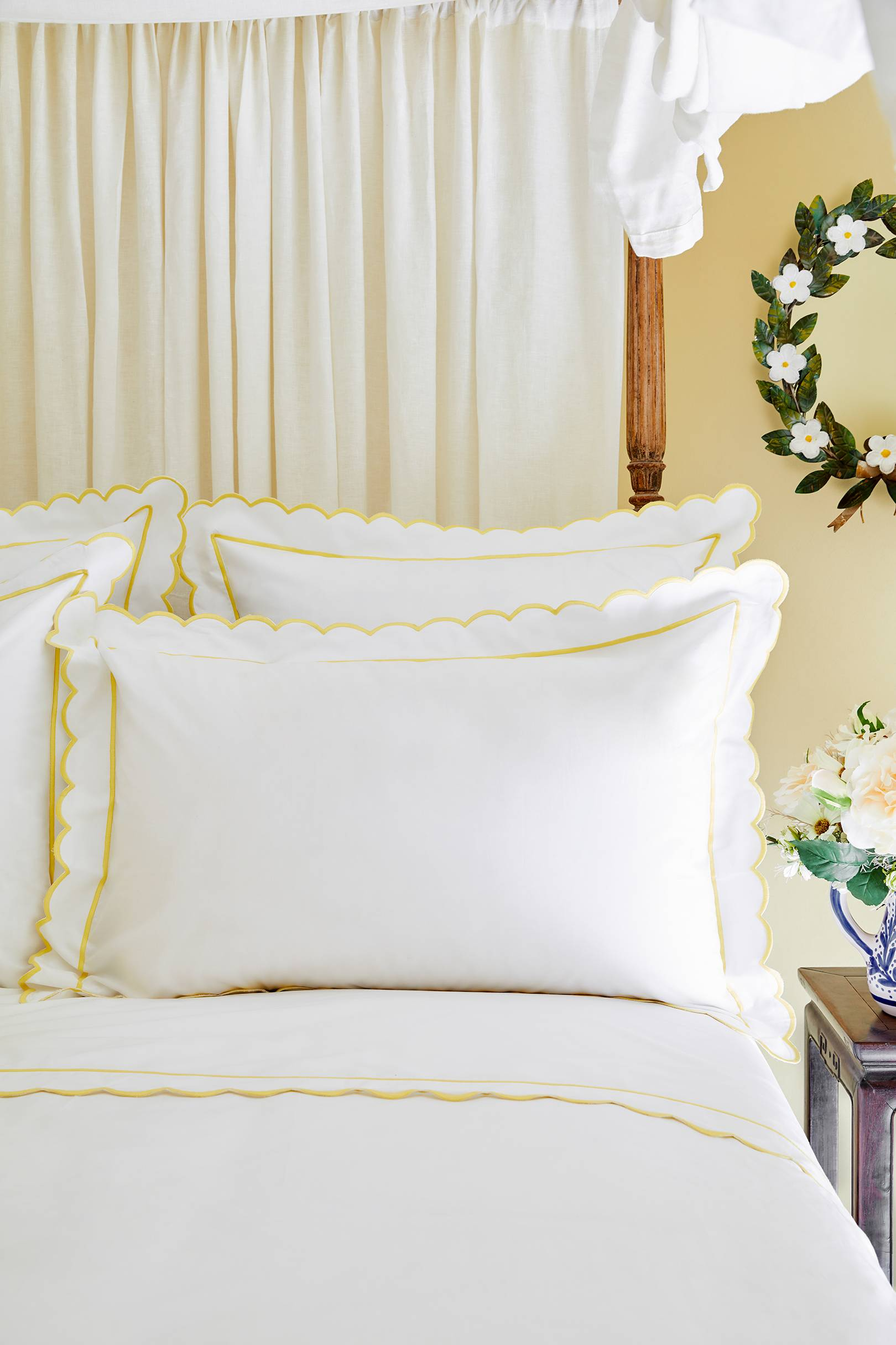 Cream White Linen Bed Pillowcase Made