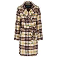 Belted Check Coat