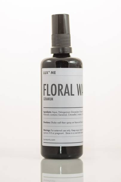 February 25: LUX* Me Geranium Floral Water, £22.50