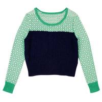 Green and Navy Jumper