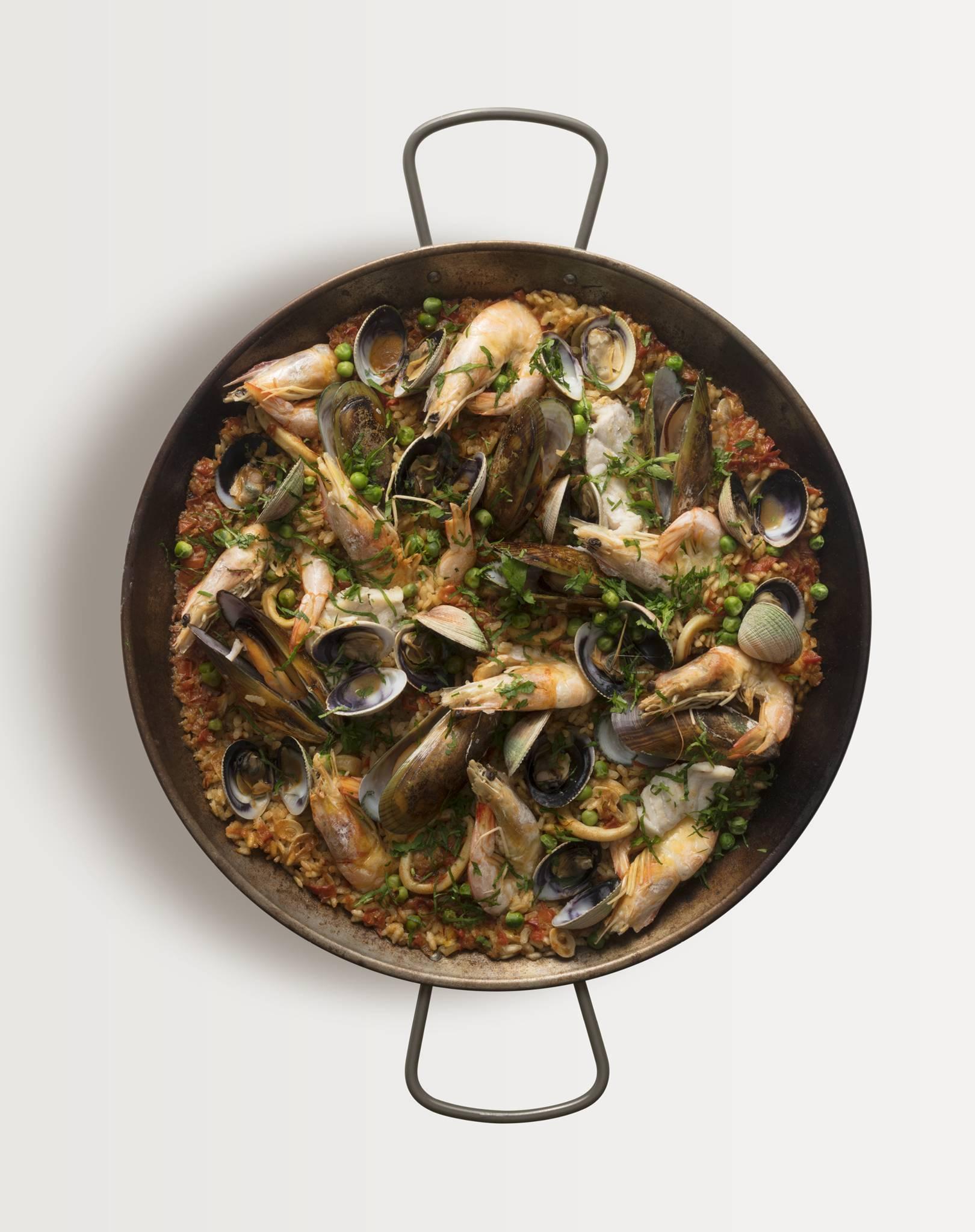 Jose Pizarro's seafood paella