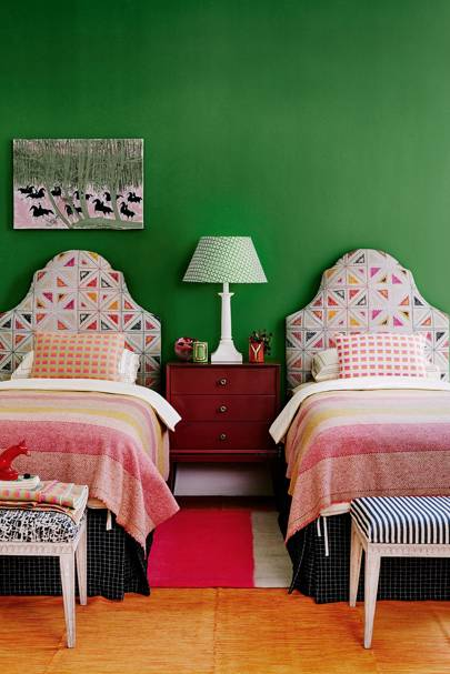 Where there's a wool there's a way - Inside House & Garden's November 2015 IssueWool blankets and padded headboards - Bedroom Ideas