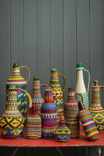 Old Plastic-Covered Bottles, £34