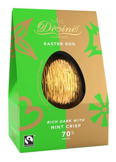 Divine Mint Dark Chocolate Easter Egg, 100g, £4.99