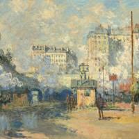 CLAUDE MONET (1840–1926) Extérieur de la Gare Saint-Lazare, effet de soleil