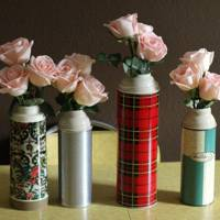 Turn a Vintage Thermos Into a Vase