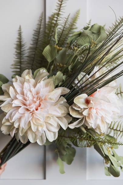 19. Faux Large Pale Pink Dahlia Stem