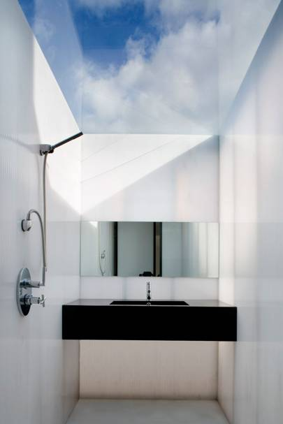 Attic Shower Room With Glass Ceiling