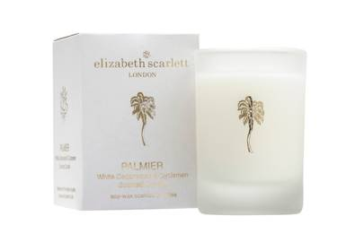 July 30: Elizabeth Scarlett Palmier Mini Candle, £12