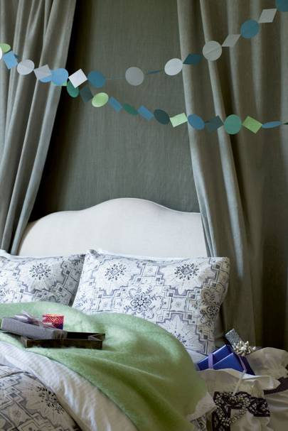 Homemade paper garlands