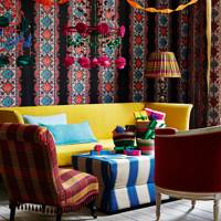 Colour & Pattern in Christmas Living Room
