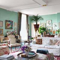 Chintz in Country Living Room