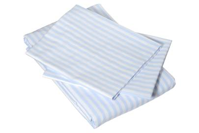 December 30: Cologne & Cotton Blue Candy Stripe Bedlinen Set, £128.50