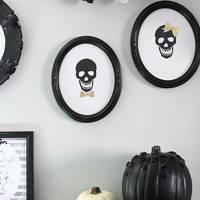 Framed Skull Art - DIY Halloween