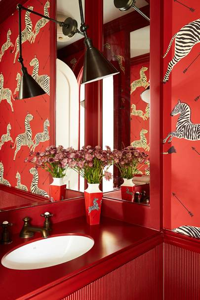 Scalamandre Zebra Wallpaper | Bathroom Design Ideas