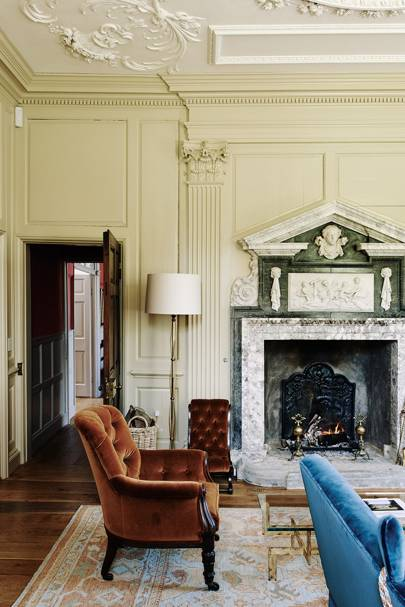 Morning Room Fireplace - Restored Georgian House in Somerset