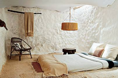 A White Bedroom at Pietro Cuevas's Home