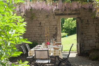 Outdoor Dining Area - French Farmhouse