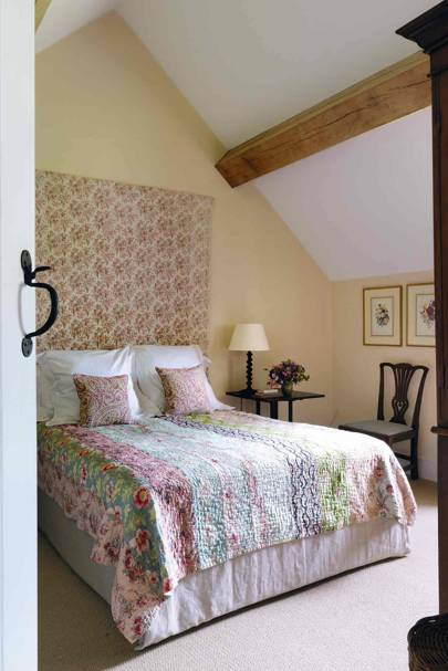 Floral Headboard Bedroom - Prince Charles' Welsh Home
