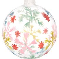 Vintage Snowflake Glass Bauble