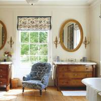 Country Bathroom with Antique Regency Drawers