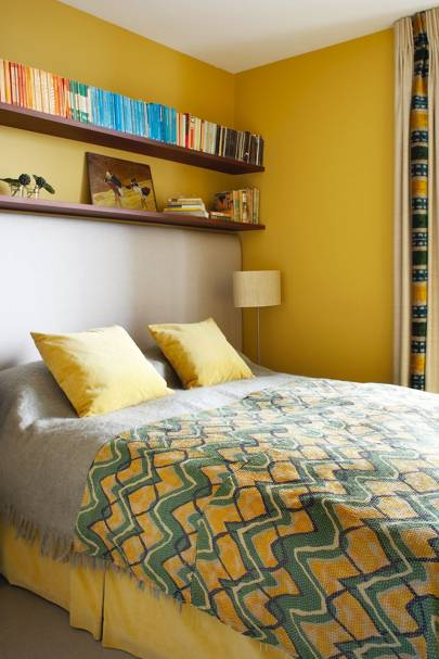 Small Bright Yellow Bedroom