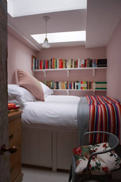 Tiny pink bedroom