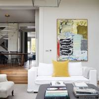 Living Room Ottoman - Modern Victorian Oxford House