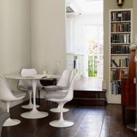 Modern storage in a dining area