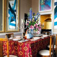 Small Bold and Bright Dining Room