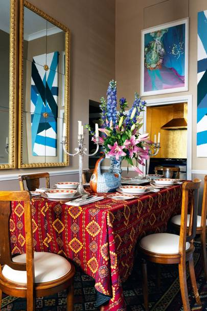 Highly Patterned Dining Room | Dining Room Design Ideas