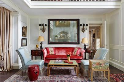 Small Pink Velvet Sofa