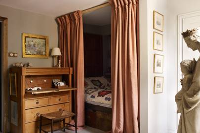 Small Bedroom with Curtained Bed